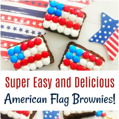 Super Easy and Delicious American Flag Brownies