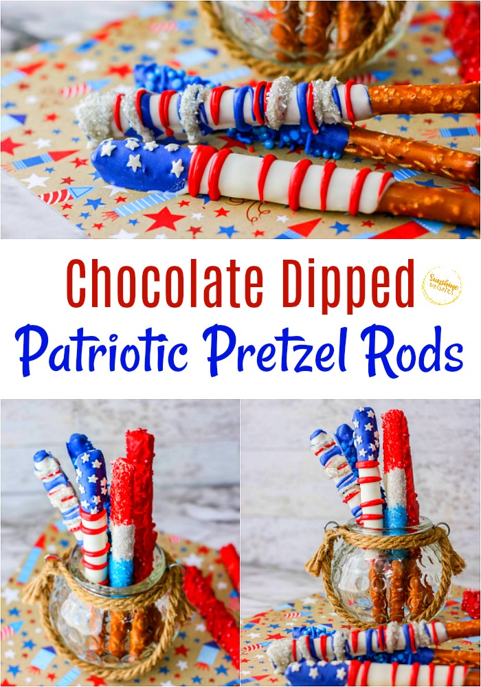 patriotic pretzel rods