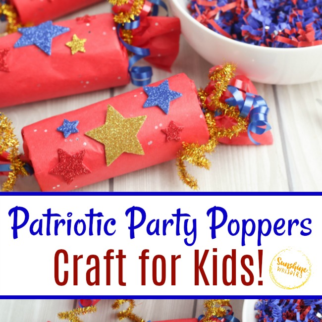 patriotic party poppers craft for kids