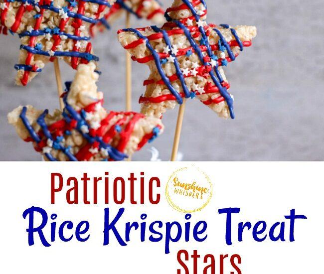 4th of July Rice Krispie Treat Stars