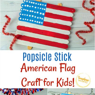 Super Easy Popsicle Stick American Flag Craft For Kids