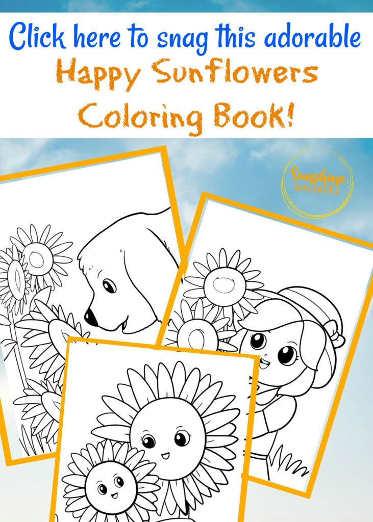 sunflower coloring book