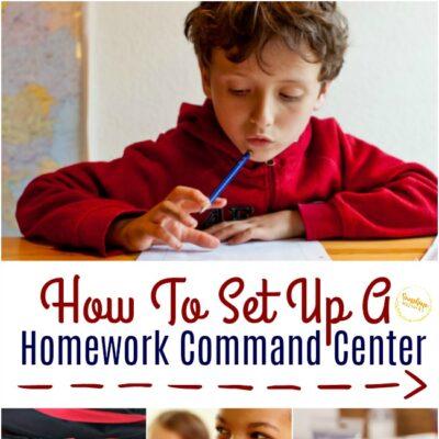 How to Set Up a Homework Command Center
