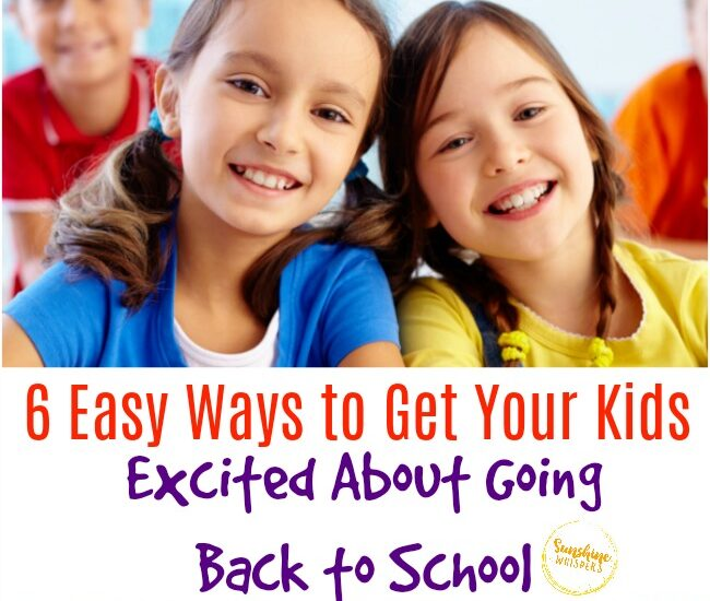 kids excited about going back to school