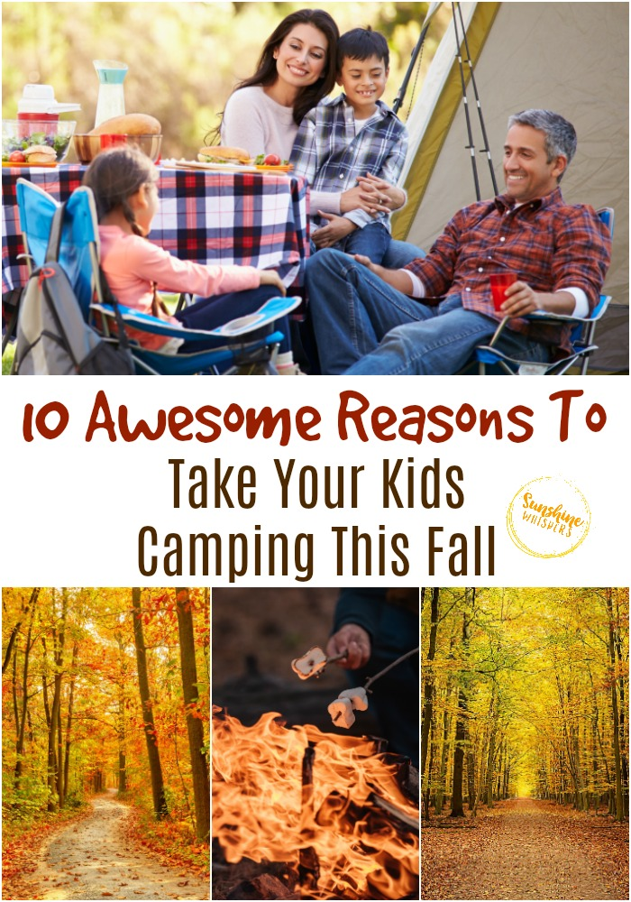fall camping with kids