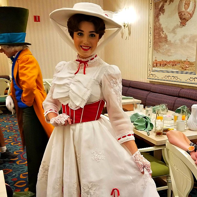 Mary Poppins character dining