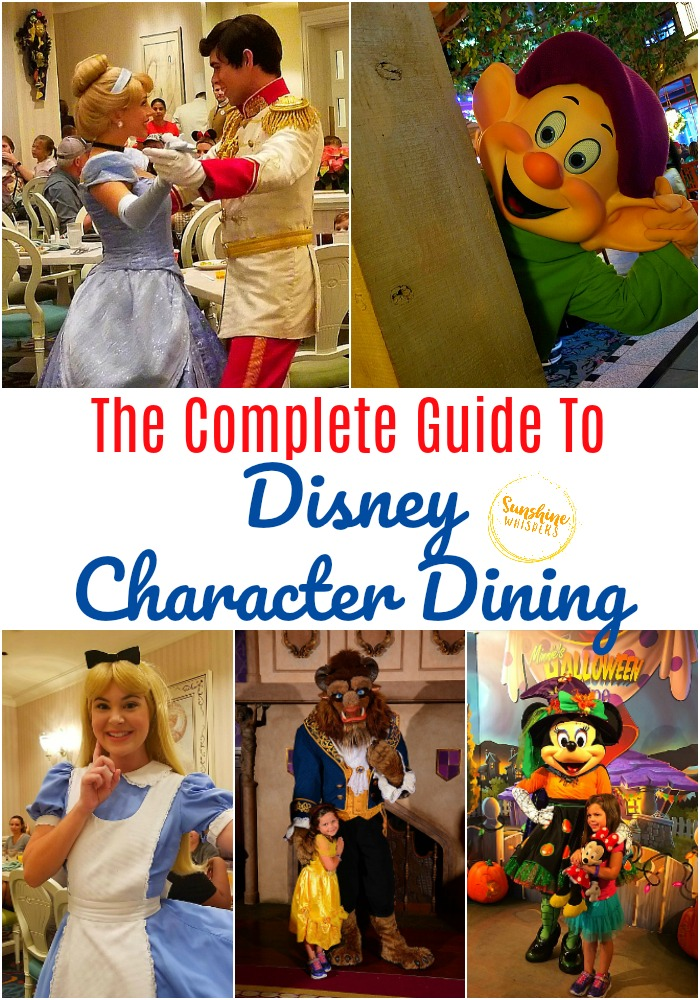 complete guide to disney character dining