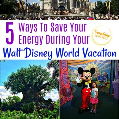 Top 5 Ways To Save Your Energy During Your Walt Disney World Vacation