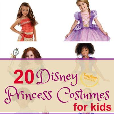 20 Disney Princess Costumes for Kids