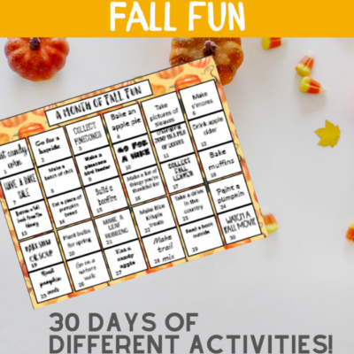 Fun Fall Bucket List Printable!
