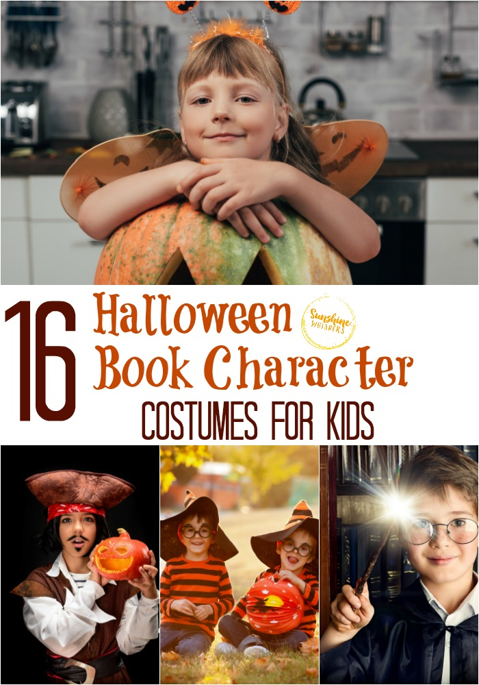 halloween book character costumes for kids