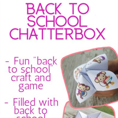 monkey themed back to school chatterbox printable