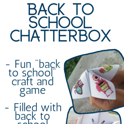 Monster Themed Back To School Chatterbox Printable