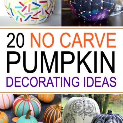 20 No Carve Pumpkin Decorating Ideas