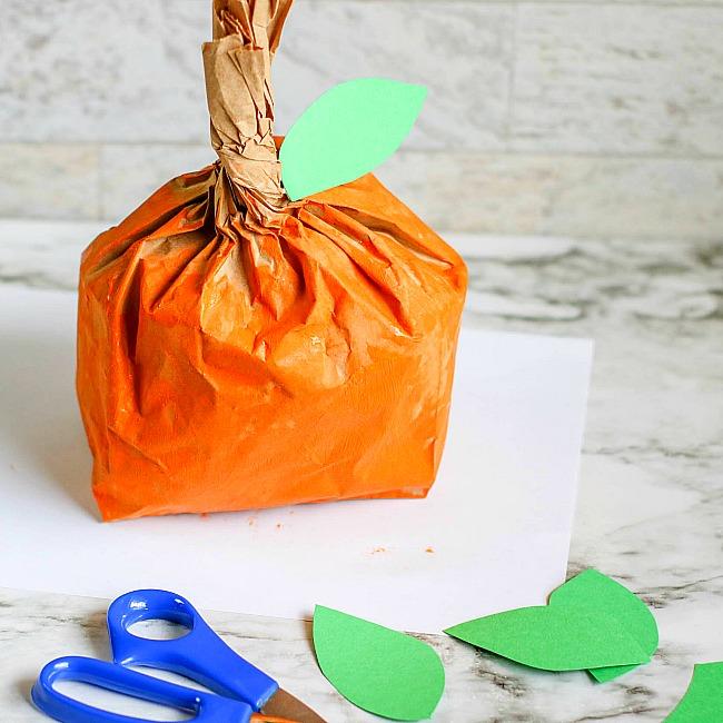 Pumpkin Paper Bag Craft for Kids