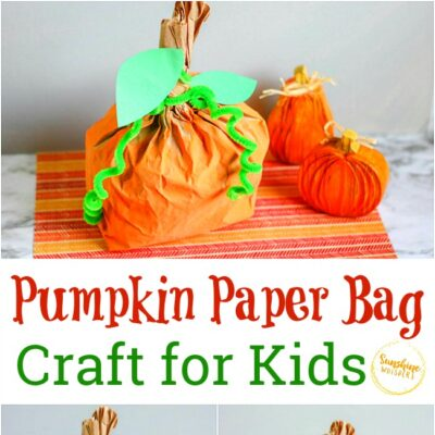 Pumpkin Paper Bag Craft for Kids