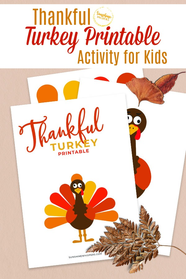 thankful turkey printable activity for kids