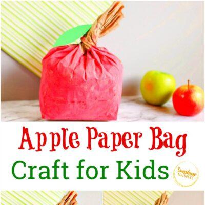 Apple Paper Bag Craft for Kids