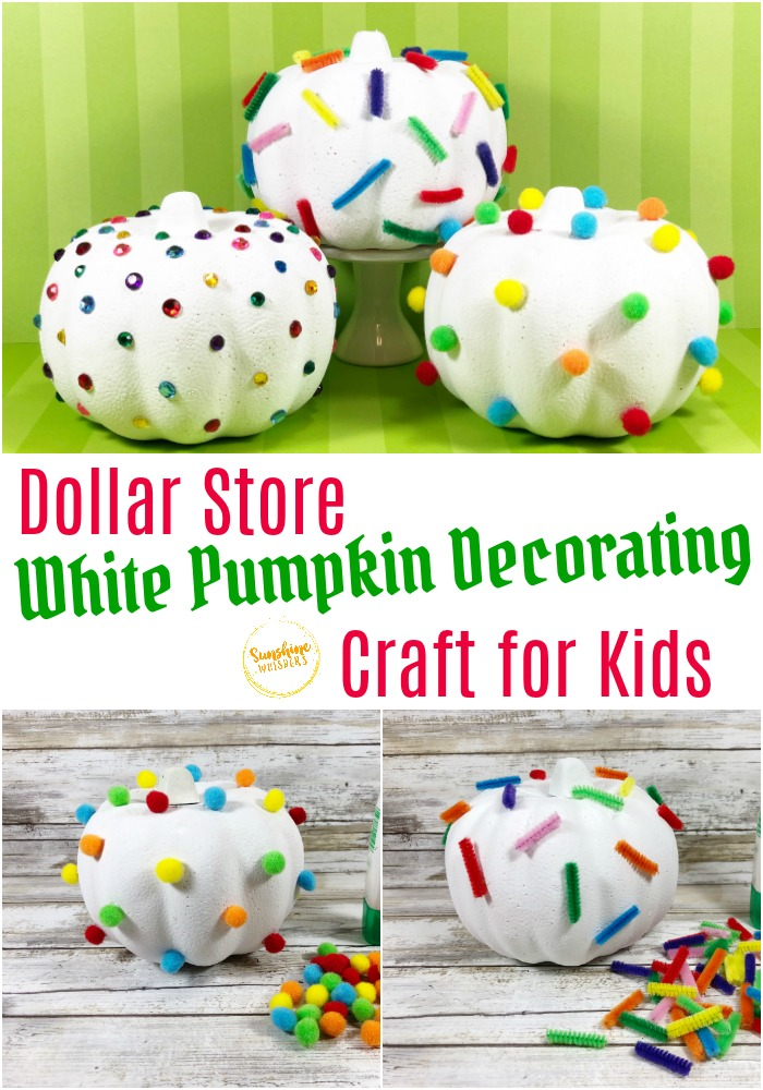 dollar store pumpkin craft for kids