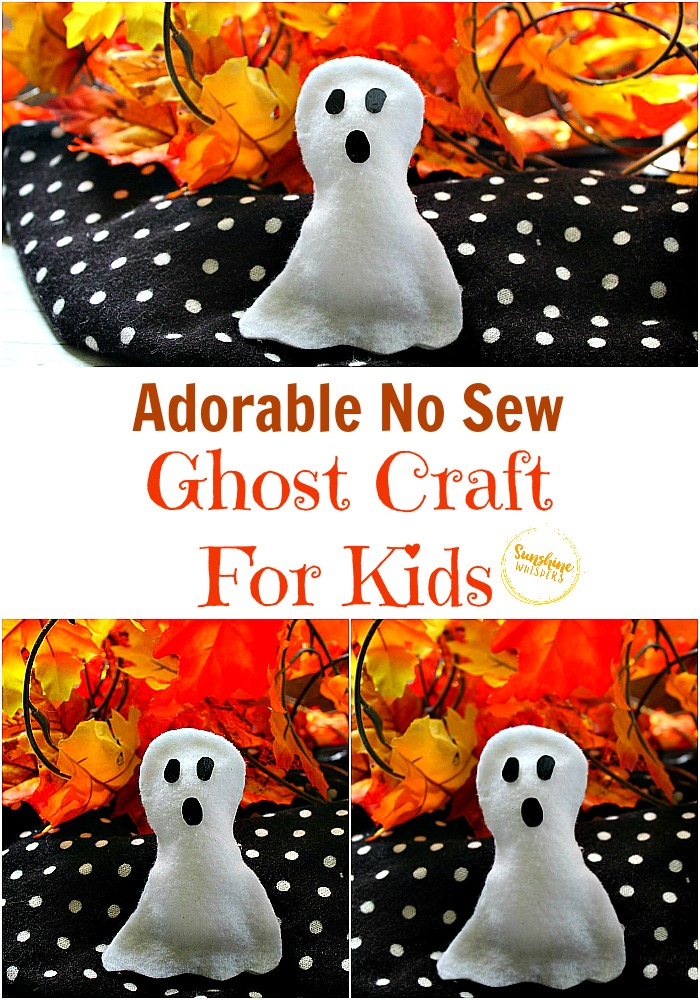 no sew ghost craft for kids