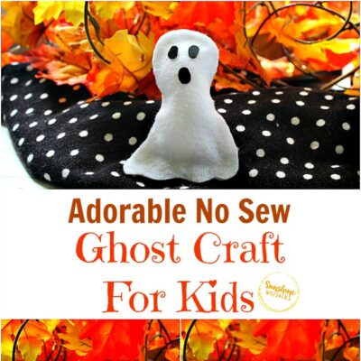 Adorable No Sew Stuffed Ghost Craft for Kids