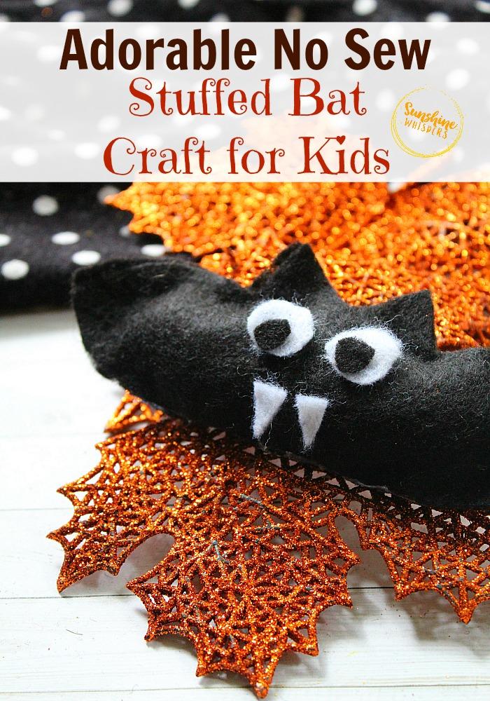 no sew stuffed bat craft for kids