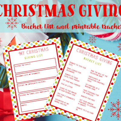 Christmas Giving Bucket List Printable