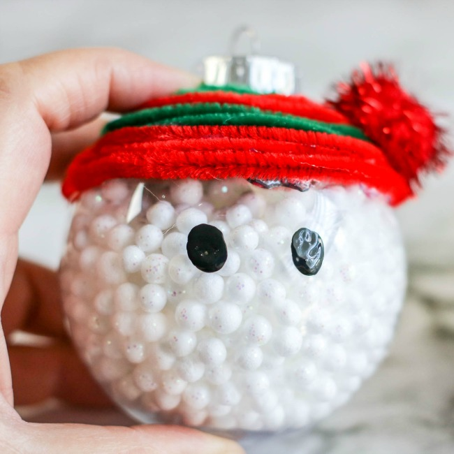 snowman ornament craft for kids