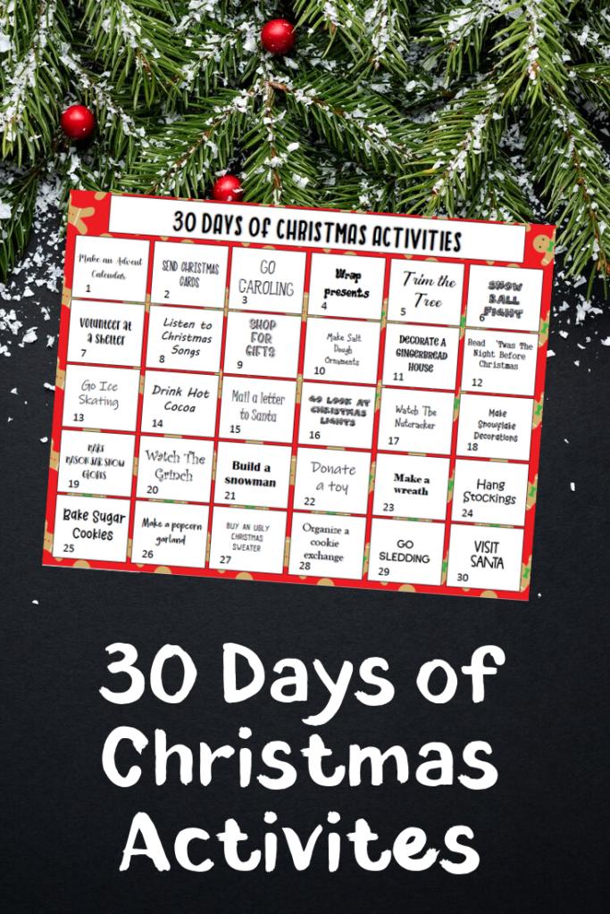 Christmas Activity Bucket List