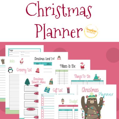Christmas Planner FREE Printables