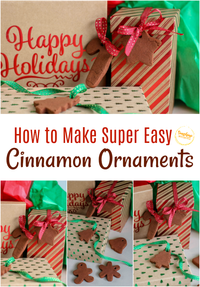 how to make super easy cinnamon ornaments