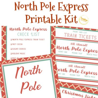 North Pole Express Kit FREE Christmas Printable!