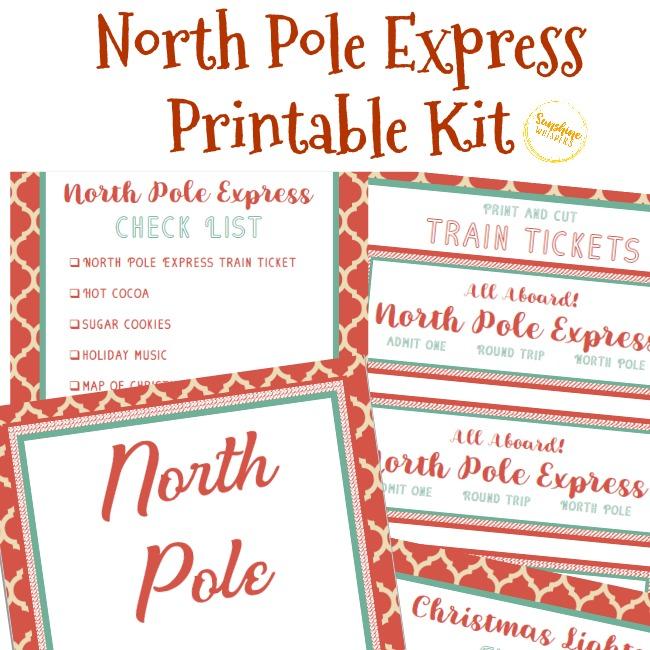 North Pole Express Kit Free Christmas Printable
