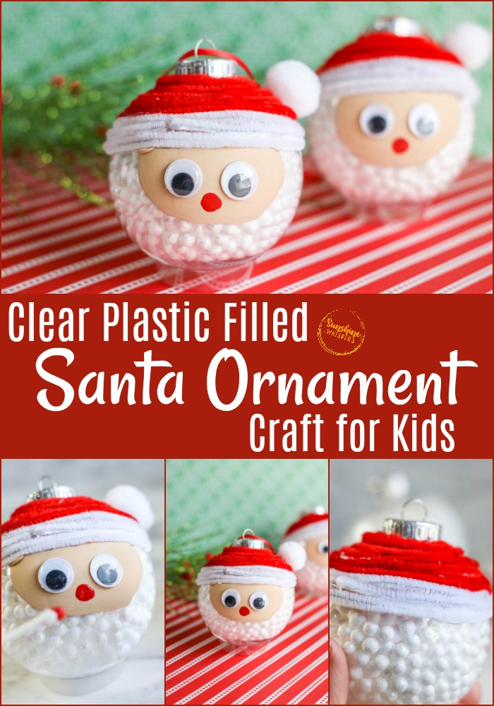 santa ornament craft for kids