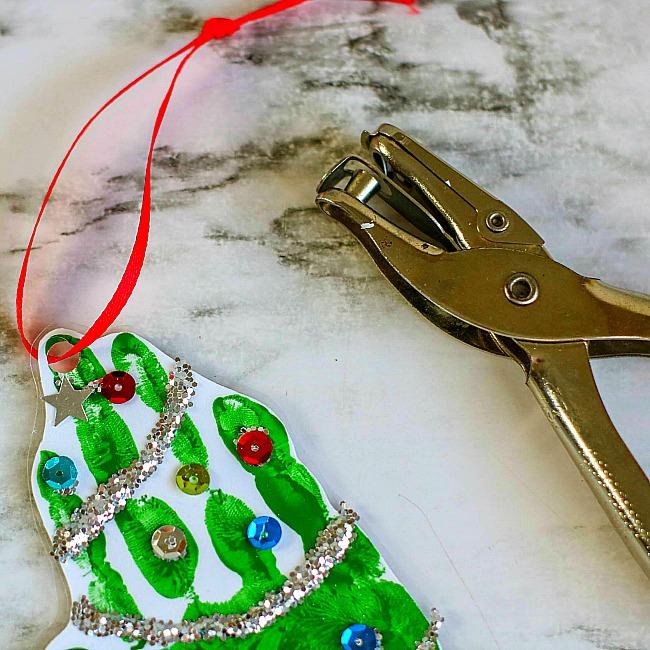 Handprint Christmas Tree Ornament Craft