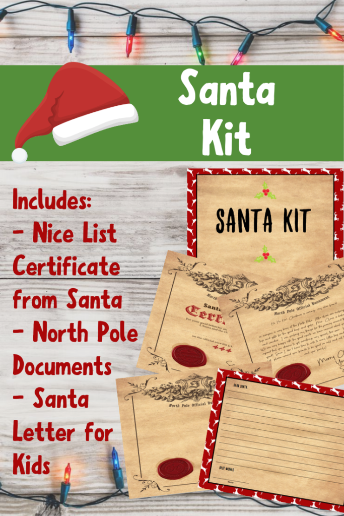 Santa Official Nice List Certificate Free Printable Kit