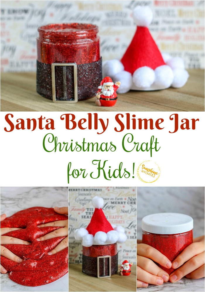 Santa Belly Slime Jar