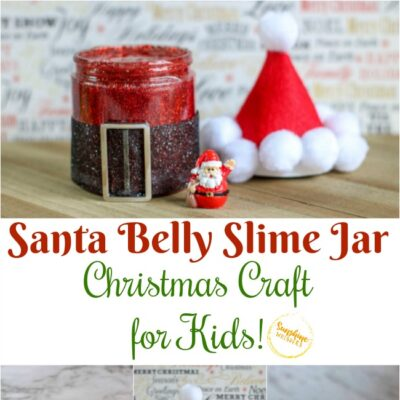 Santa Belly Slime Jar Christmas Craft For Kids