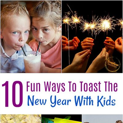 toast the new year with kids