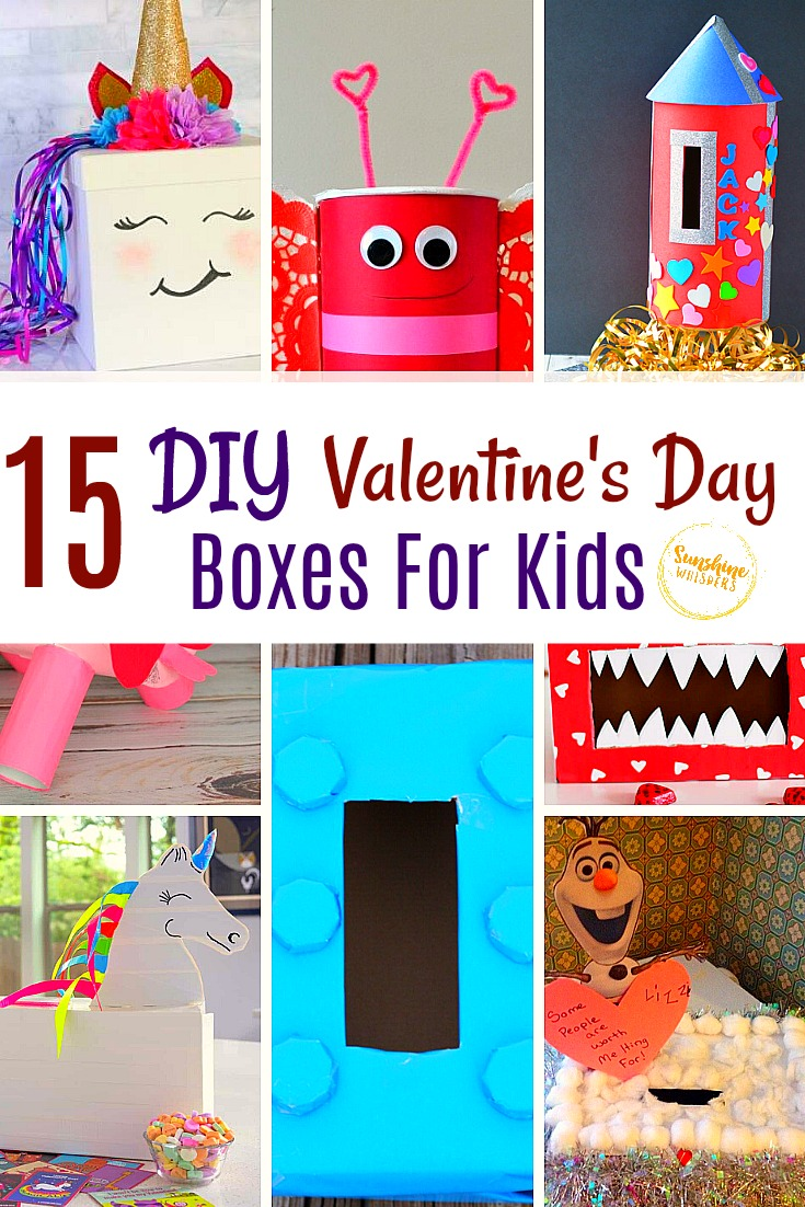 DIY Valentine's Day boxes for kids