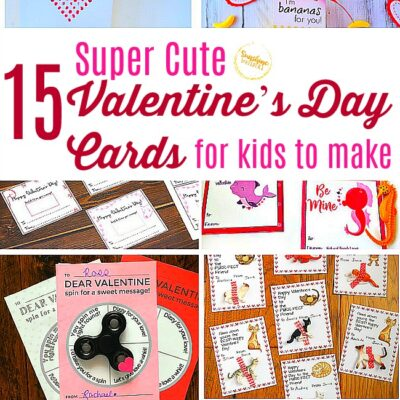 15 Super Cute Valentine's Day Cards for Kids to Make