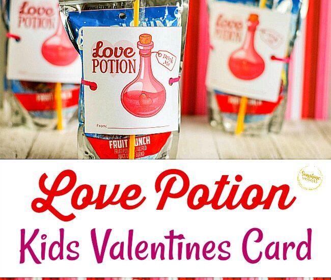Love Potion Kids Valentines Idea