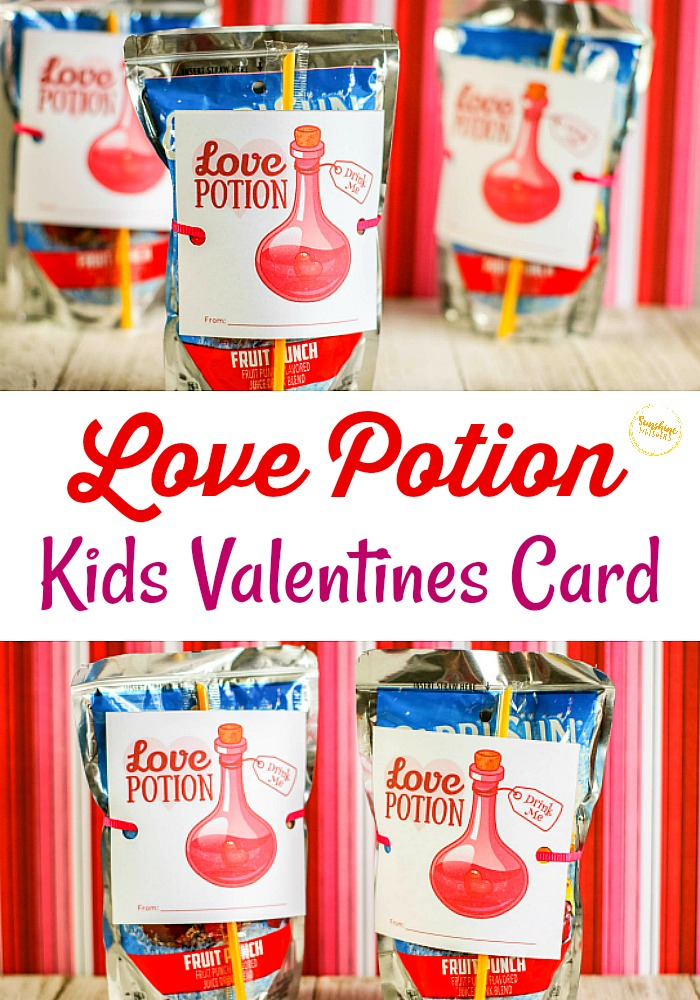 Love Potion Kids Valentines Idea