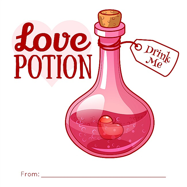 Love Potion Kids Valentines Card