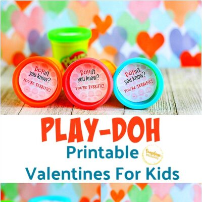 Play-Doh Themed Printable Valentines For Kids