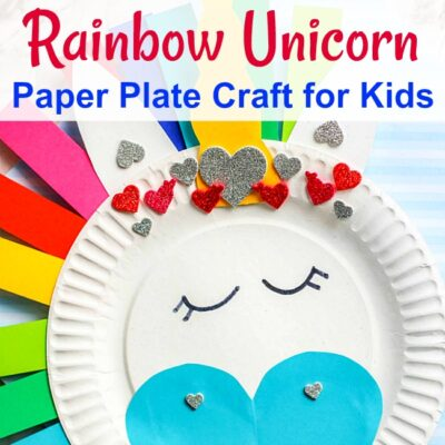Rainbow Unicorn Paper Plate Craft For Kids