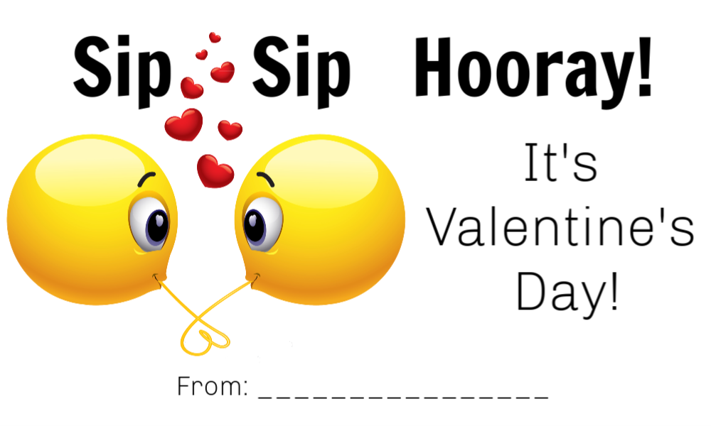 This is a graphic of Sip Sip Hooray Printable intended for printable free