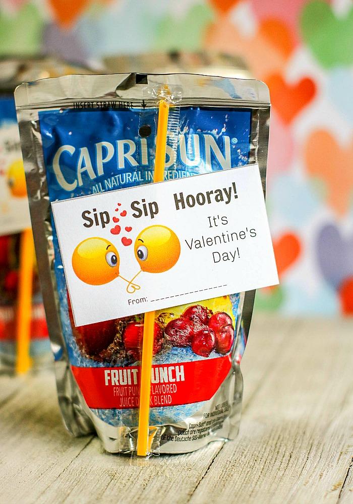 Sip Sip Hooray! FREE Printable Valentines for Kids