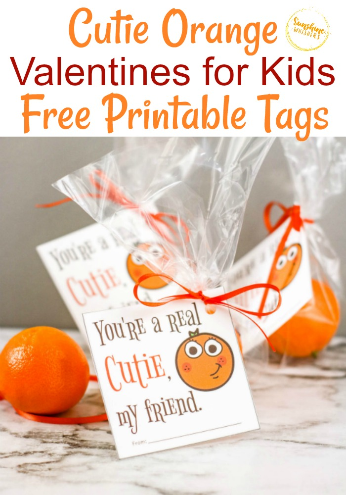 cutie orange free printable valentine tag