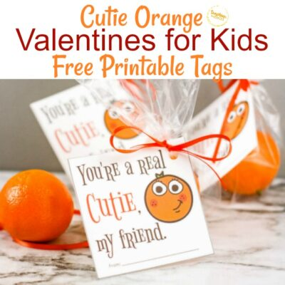 Cutie Orange FREE Printable Valentines Tag